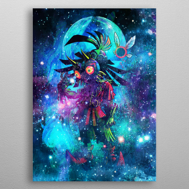 Galaxy design of the mask metal poster