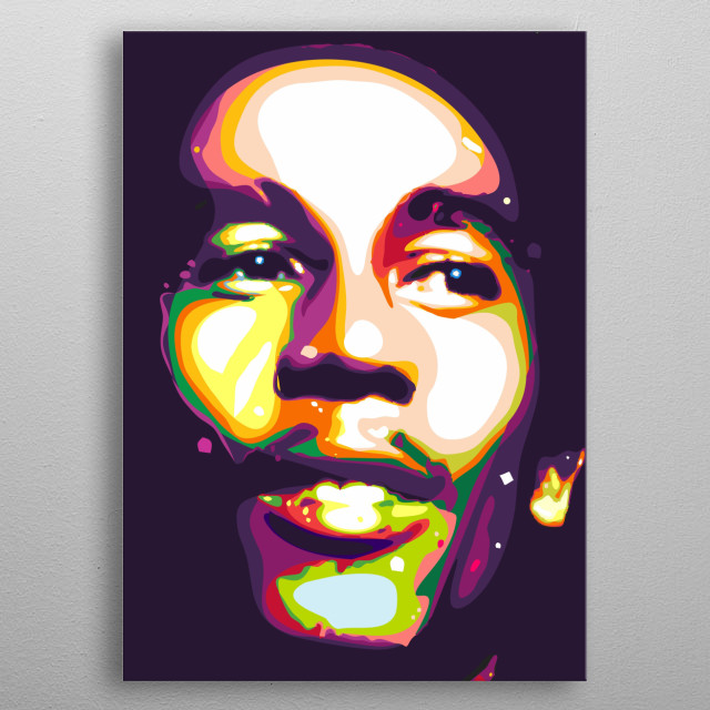 bob marley colorful illustration metal poster