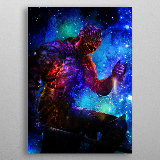 Galaxy design of the cinder boss metal poster