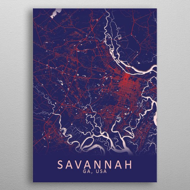 High-quality metal print from amazing Red White And Blue Maps collection will bring unique style to your space and will show off your personality. metal poster