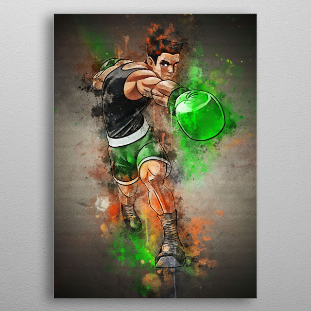 Little Mac is the main protagonist in the Nintendo Punch-Out !!  a series of video games metal poster