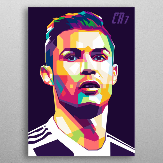 Cristiano is a Portuguese professional footballer who plays as a forward for Italian club Juventus and captains the Portugal national team. metal poster
