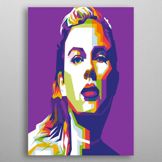 Taylor Swift on WPAP pop art style illustration modern metal poster