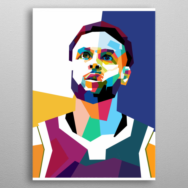 Stephen Curry is professional basketball athlete. He play in Golden State Warriors. Wanna see more another art? Visit my store. Cheers metal poster