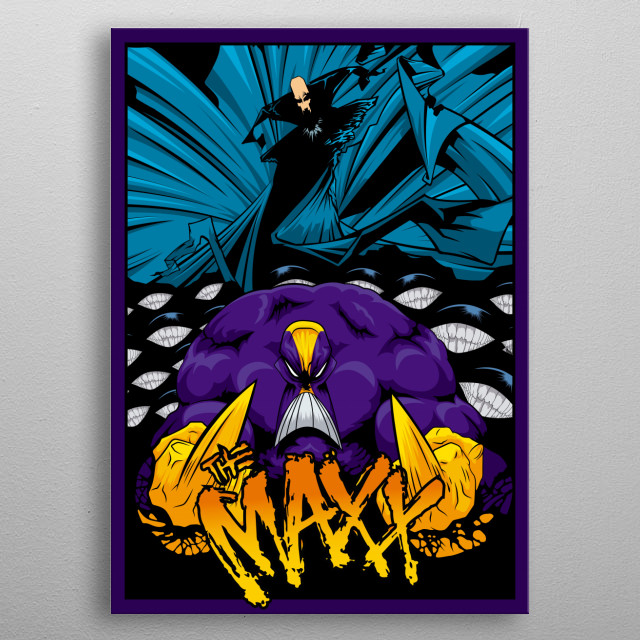 Vector art tribute to one of the best comics of the 90s, The Maxx metal poster