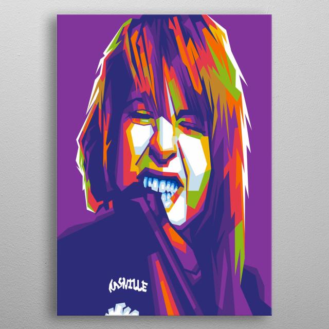 Hayley Williams on WPAP pop art style illustration modern metal poster