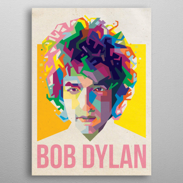 WPAP ILLUSTRATION OF BOB DYLAN metal poster