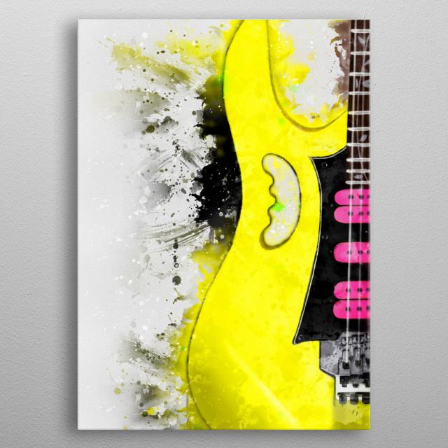 Digital painting of the legendary Steve Vai's guitar metal poster