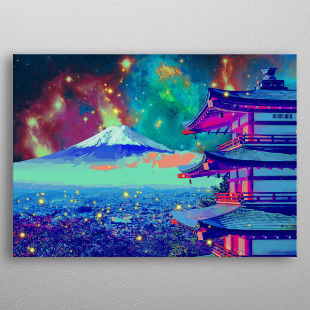 Inspired by the Mt. Fuji, in Shizuoka, Japan metal poster