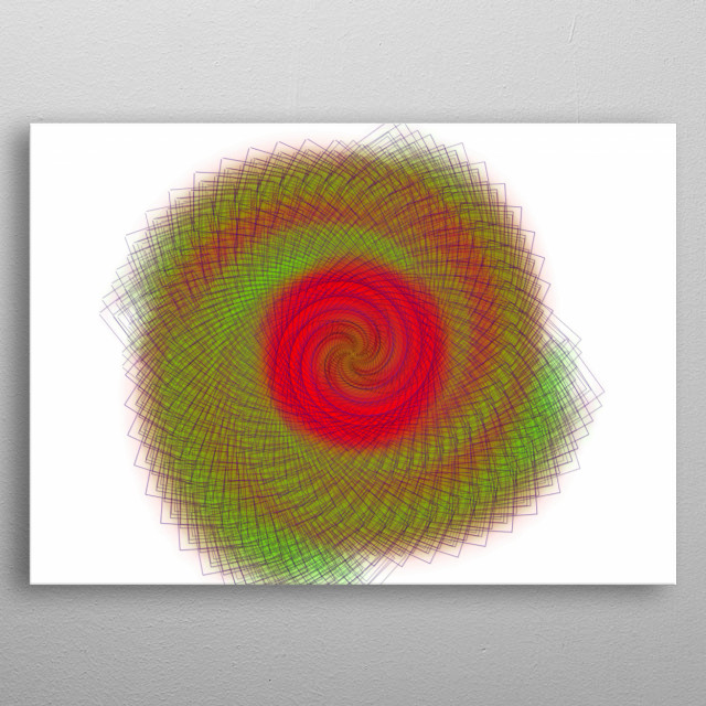 A spiral, galaxy like abstract art metal poster