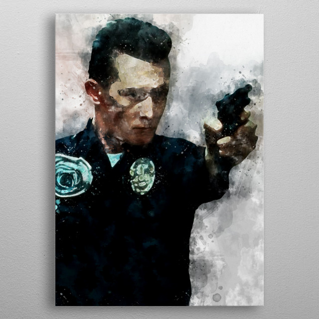 Watercolour of the T1000 metal poster