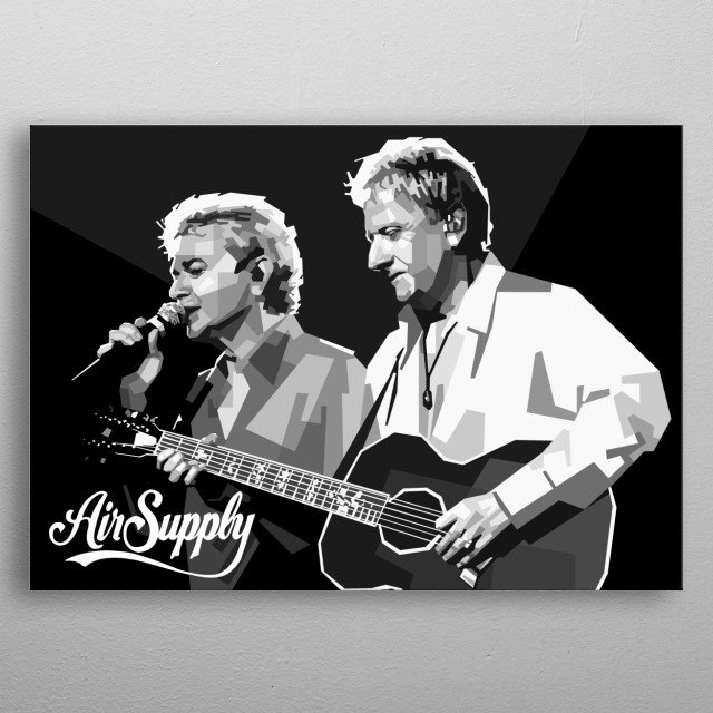 Poster of Air Supply. metal poster