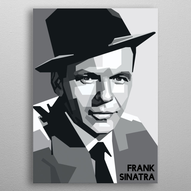Portrait of Frank Sinatra metal poster