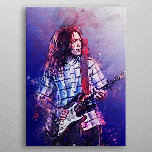 William Rory Gallagher is an Irish blues and rock instrumentalist, songwriter, and producer metal poster