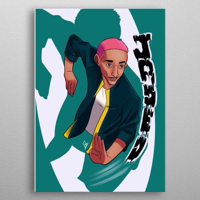 Just a fun play of words on jaden smiths  is karate chopping the feeling of being jaded. metal poster