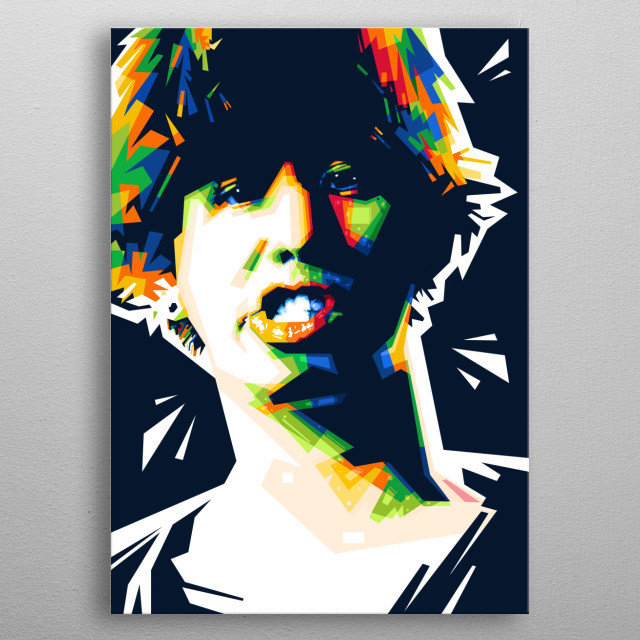 Popart illustration of a Japanese musician who is the lead vocalist of the Japanese rock band One Ok Rock, Takahiro Moriuchi metal poster