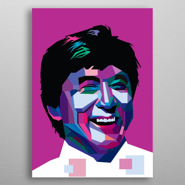 Jackie Chan is a Hong Kongese martial artist, actor, film director, producer, stuntman, and singer. metal poster