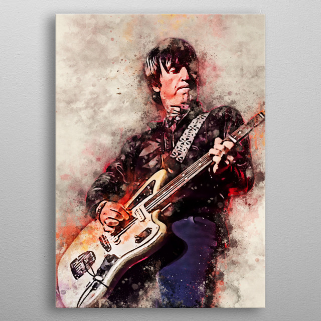 Johnny Marr is an English musician, songwriter and singer, best known as a guitarist and - with Morrissey metal poster