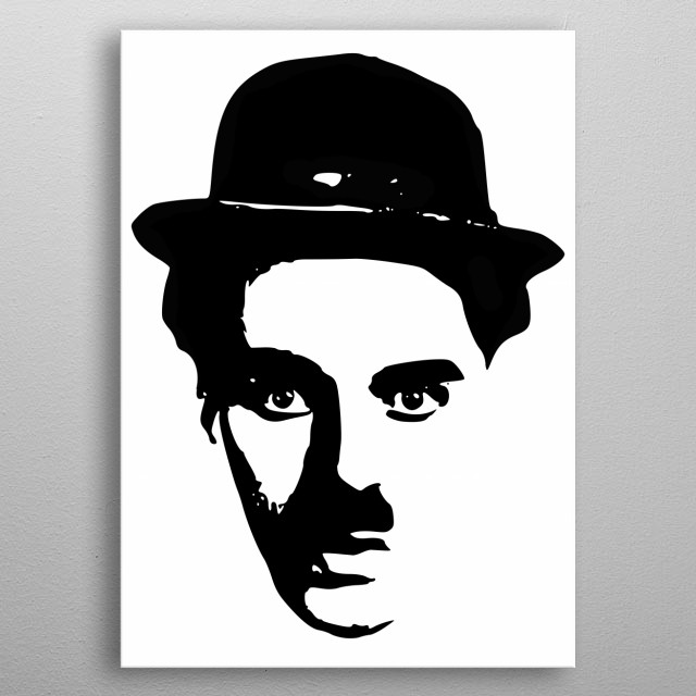 Comedian And Actor Charlie Chaplin Minimalistic Tribute. metal poster