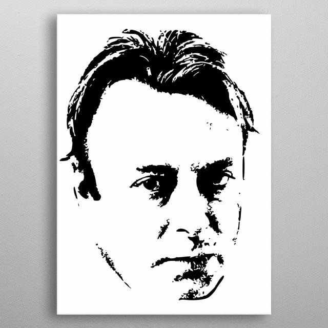 Christoper Hitchens Minimalistic Tribute. metal poster