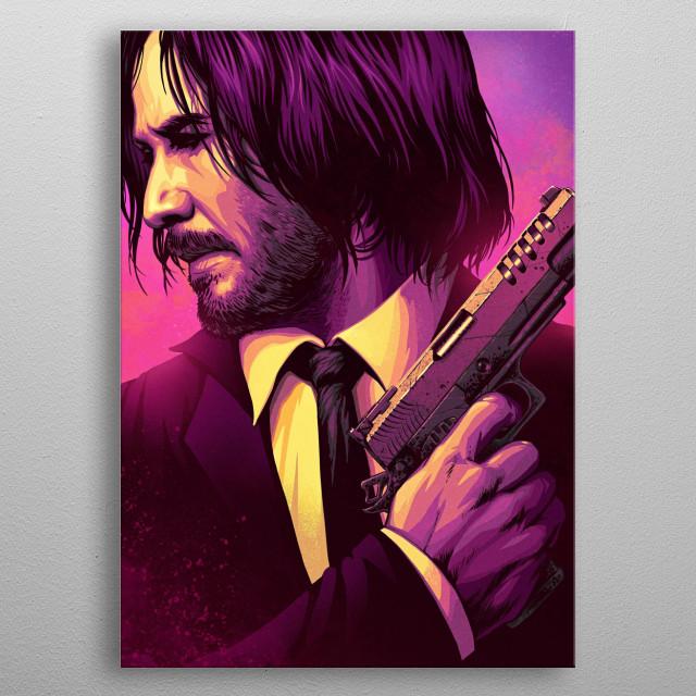 John Wick Movie Poster metal poster