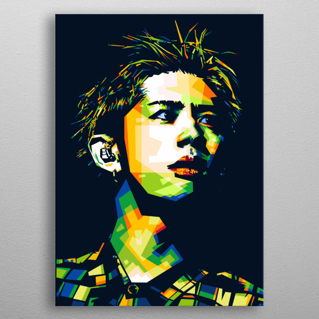 Popart illustration of Takahiro, the vocalist of One Ok Rock band. metal poster