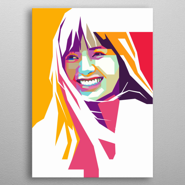 Lisa of BlackPink in WPAP Art metal poster