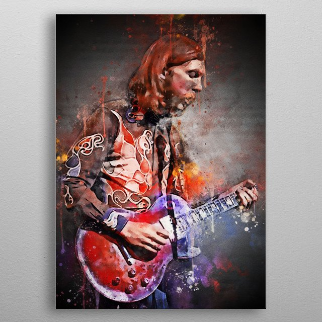 Howard Duane Allman is an American guitarist, session musician, and founder and leader of the Allman Brothers Band.  The Allman Brothers Ban metal poster