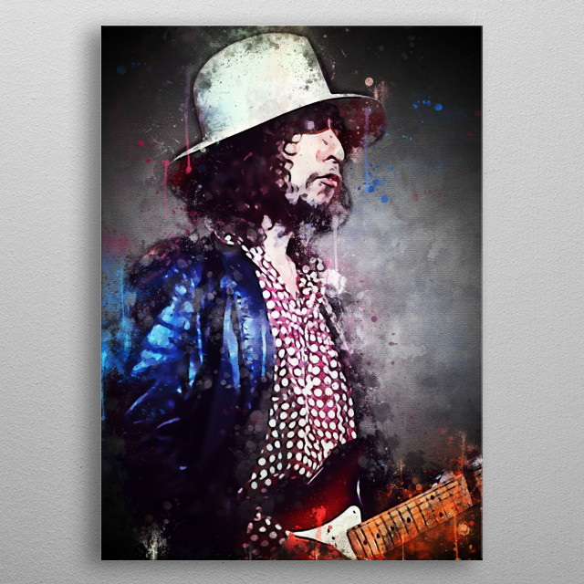Bob Dylan is an American singer-songwriter, musician and poet whose contribution to American music has been long and comparable, in fame and metal poster
