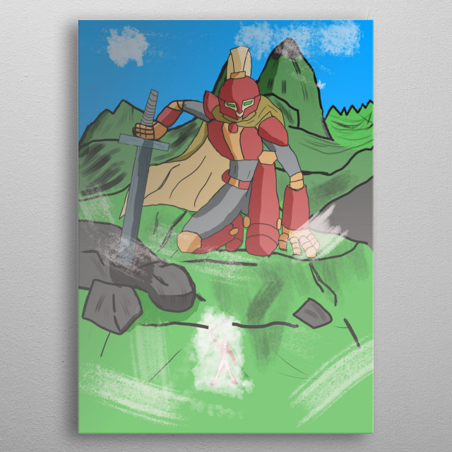giant knight  metal poster