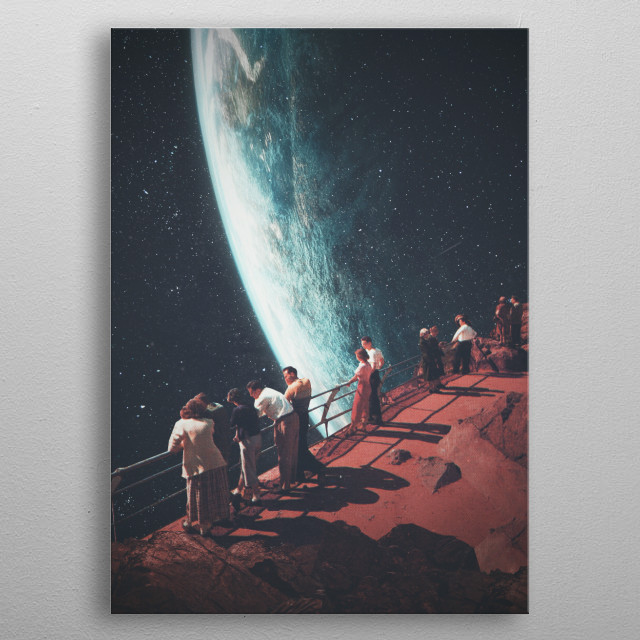 Missing The Ones We Left Behind. until we meet again and this time  forever. Digital Vintage Collage metal poster