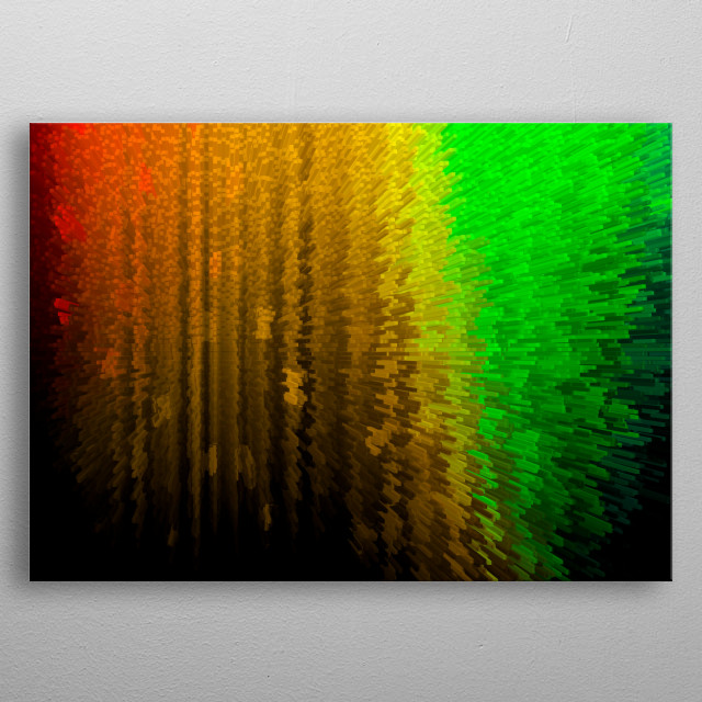 Colorful energy splash background metal poster