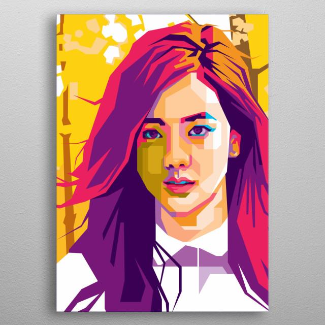 Kim Jisoo of BlackPink in WPAP Art metal poster
