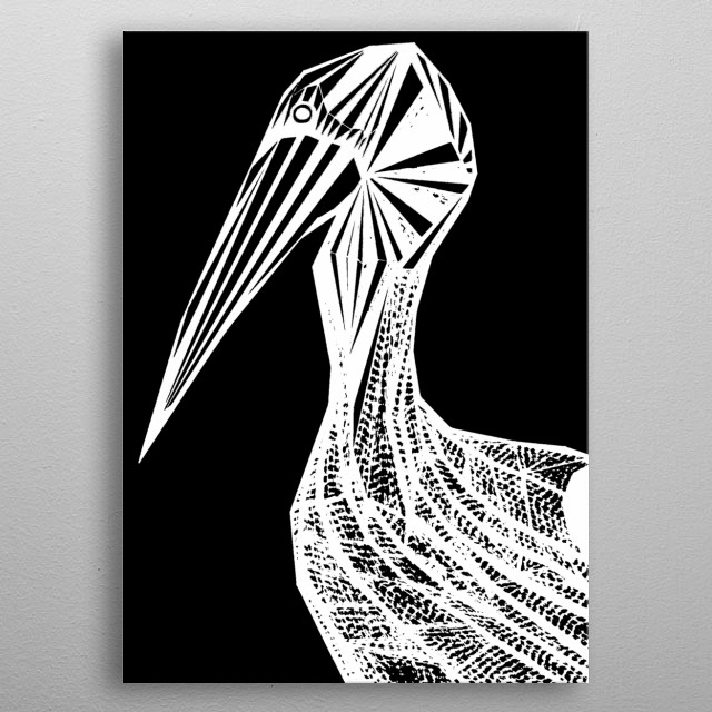 An inverted Pelican. metal poster