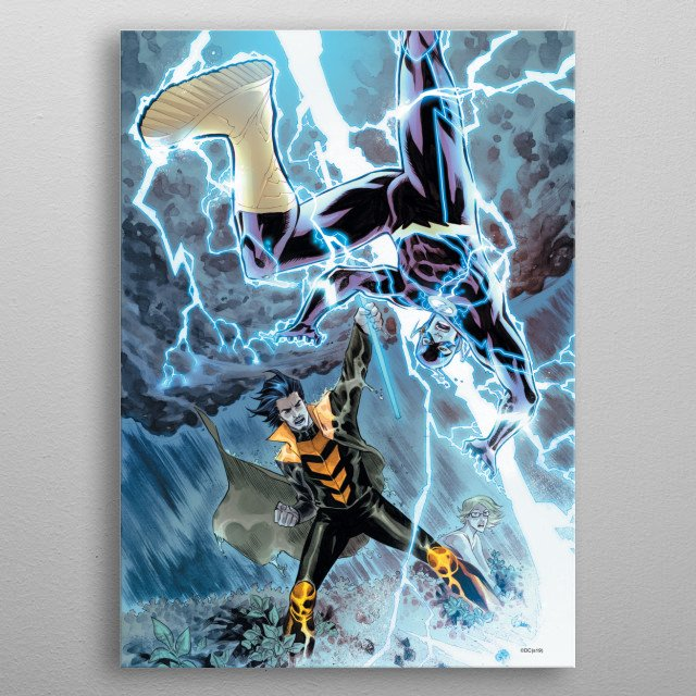 Fascinating metal poster designed by DC Comics. Displate has a unique signature and hologram on the back to add authenticity to each design. metal poster