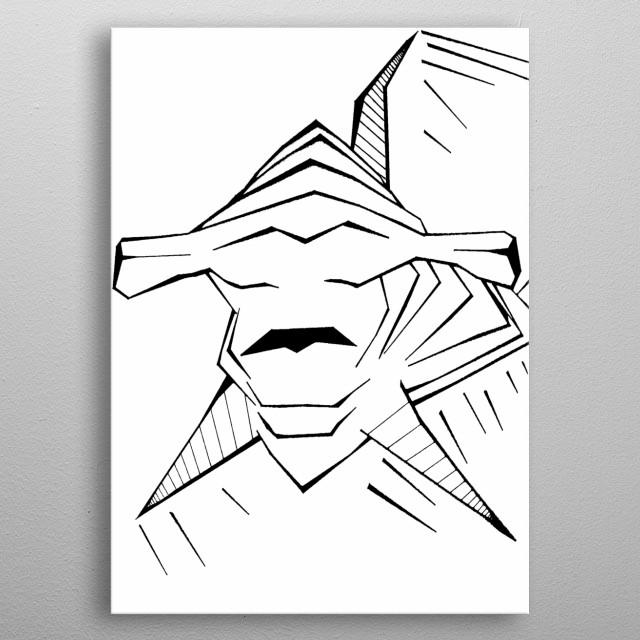 The Hammerhead Shark. metal poster