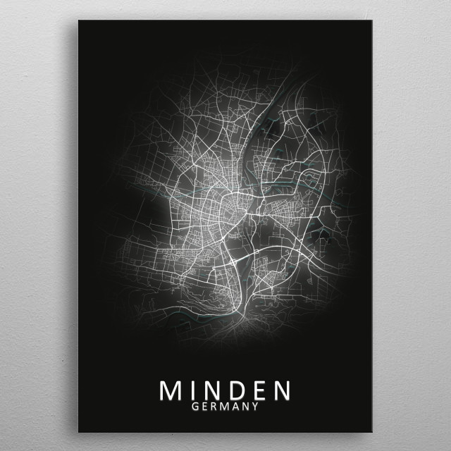 High-quality metal print from amazing Led Glow City Maps collection will bring unique style to your space and will show off your personality. metal poster