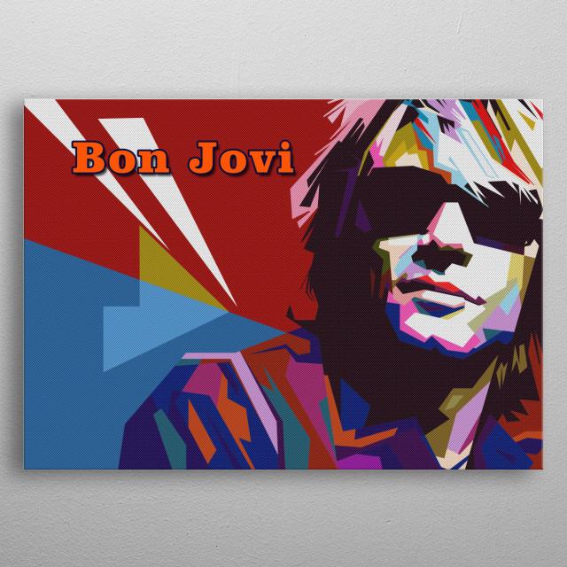 Bon Jovi in wpap pop art modern Fullcolor metal poster