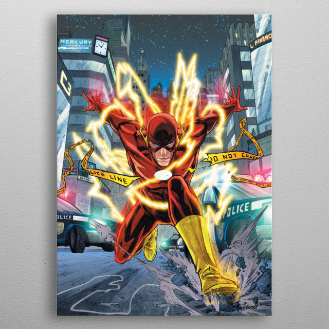 High-quality metal print from amazing The Flash collection will bring unique style to your space and will show off your personality. metal poster