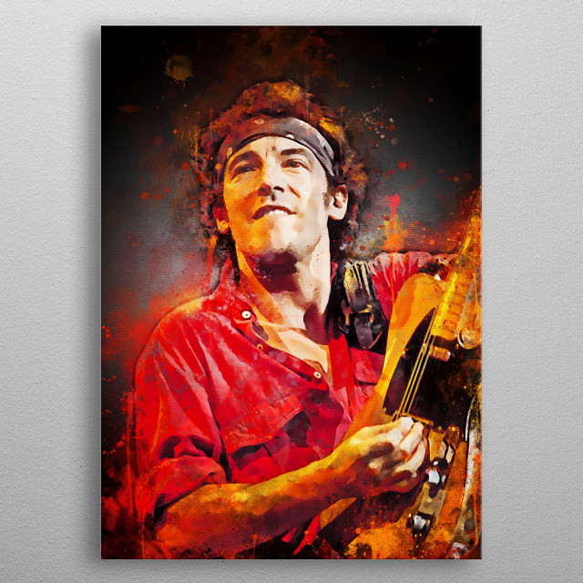 Bruce Frederick Joseph Springsteen is an American songwriter, singer and guitarist.  E Street Band is a companion band during tours and reco metal poster