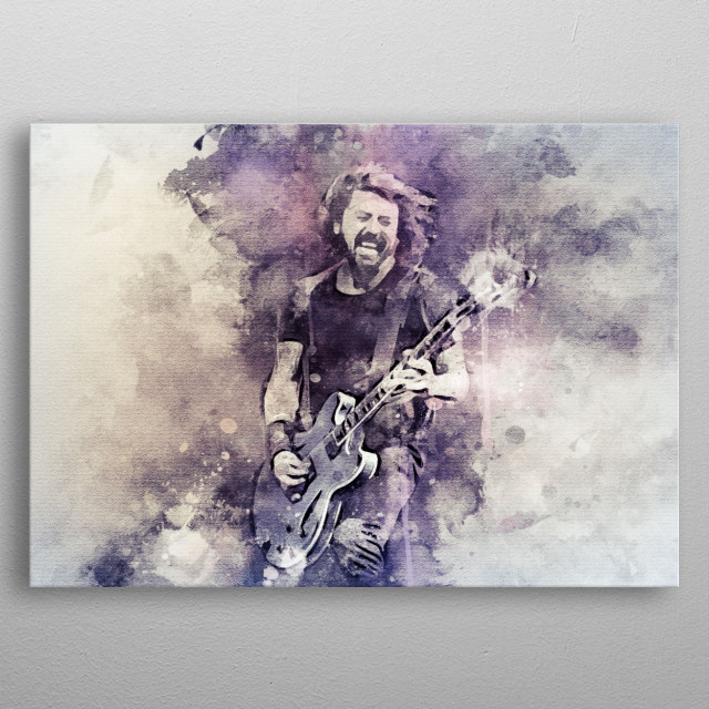 Dave Grohl is an American rock musician, multi-instrumentalist, singer-songwriter and also lead vocalist, guitarist, and founder of Foo Figh metal poster
