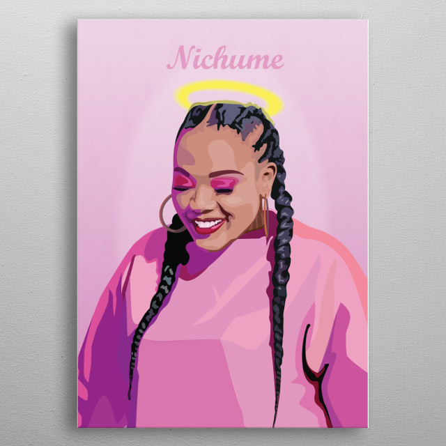 A tribute poster to Nichume Siwundla, a South African musician whose career was short-lived after depression and suicide. metal poster