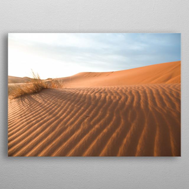 Sahara Desert Morocco | Image by Chantelle Flores   metal poster
