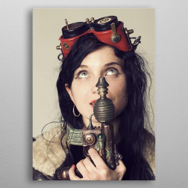 Dieselpunk Girl Movies Poster Print Metal Posters Displate