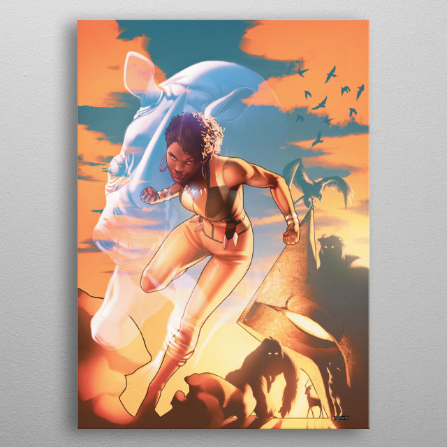 High-quality metal print from amazing Jla collection will bring unique style to your space and will show off your personality. metal poster