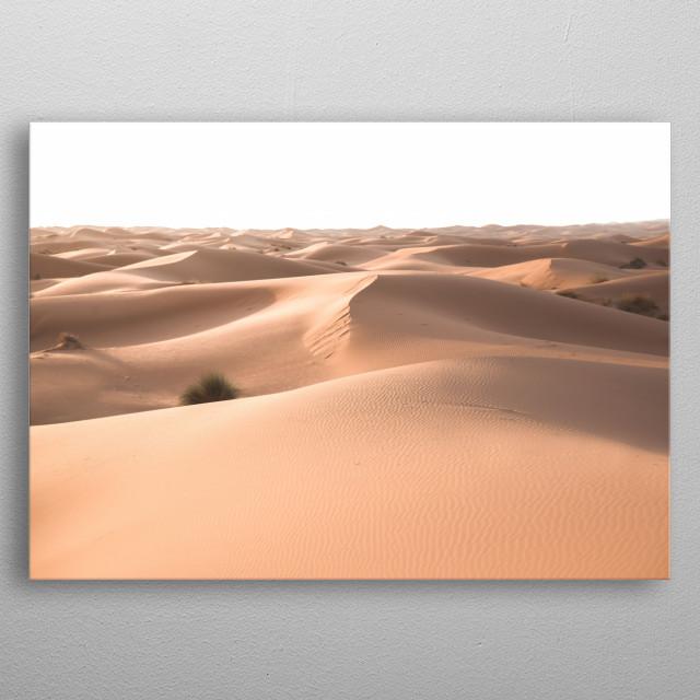 Sahara Desert Morocco   Image by Chantelle Flores   metal poster