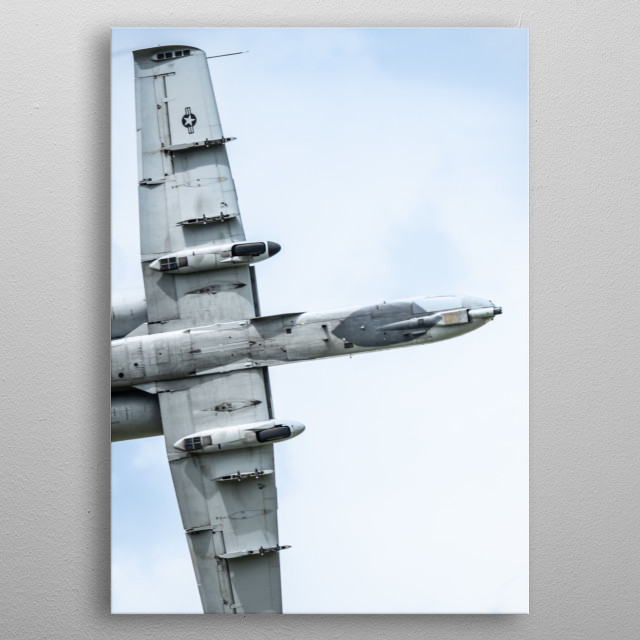 The Fairchild Republic A-10 Thunderbolt II is a single-seat, twin turbofan engined, straight-winged, jet aircraft. metal poster