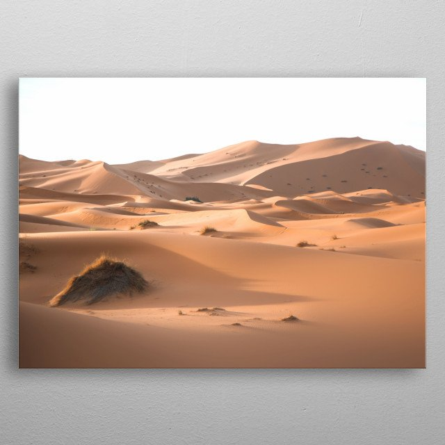 Sahara Desert Morocco | Image by Chantelle Flores   metal poster