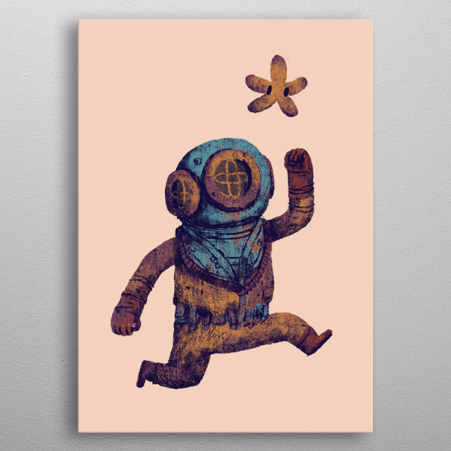 diver power up!  metal poster