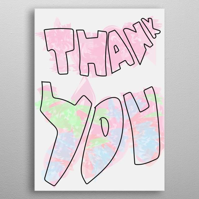 thank you card metal poster